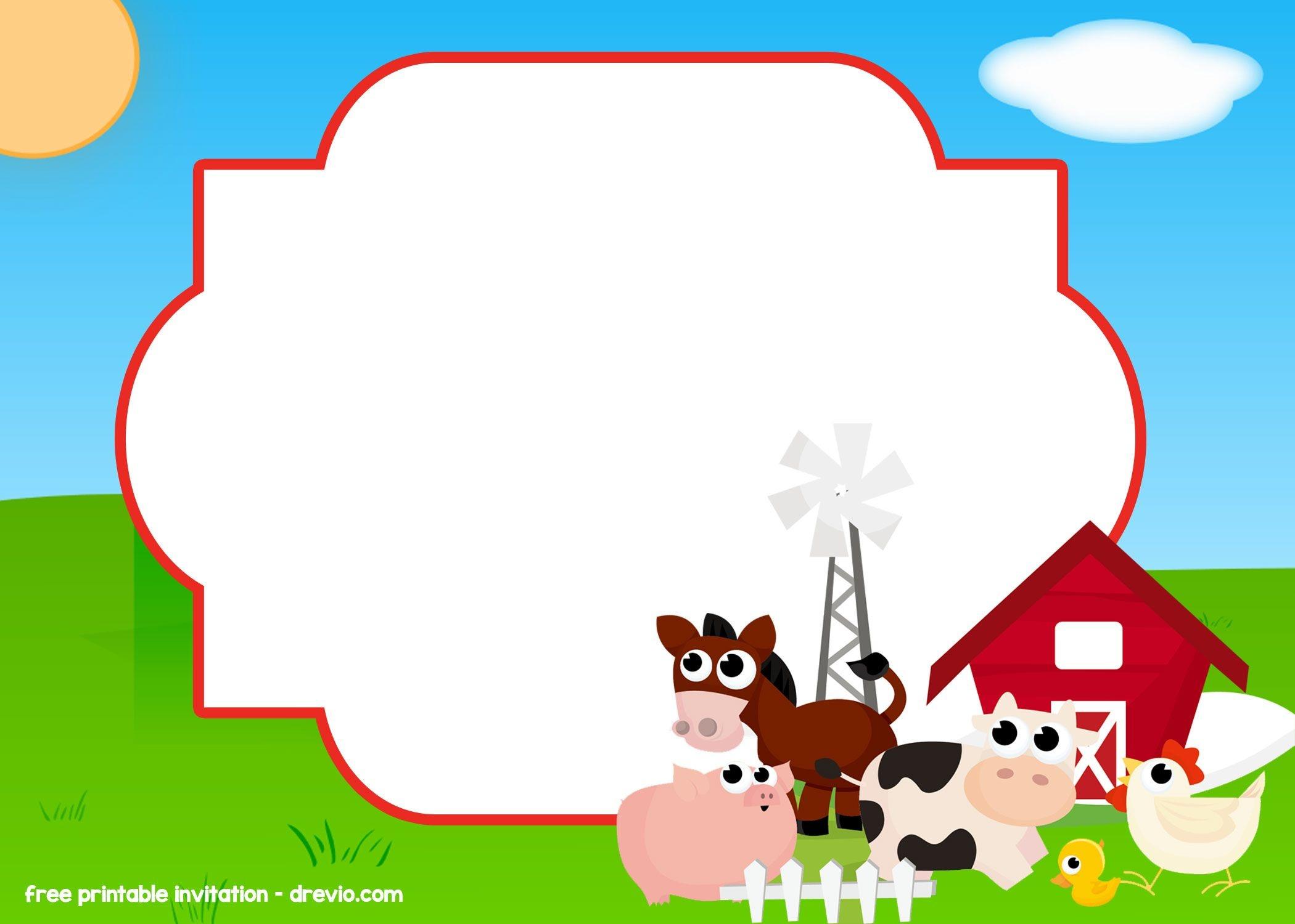 Free Farm - Barnyard Invitation Templates | Free Printable Birthday - Free Printable Farm Birthday Invitations