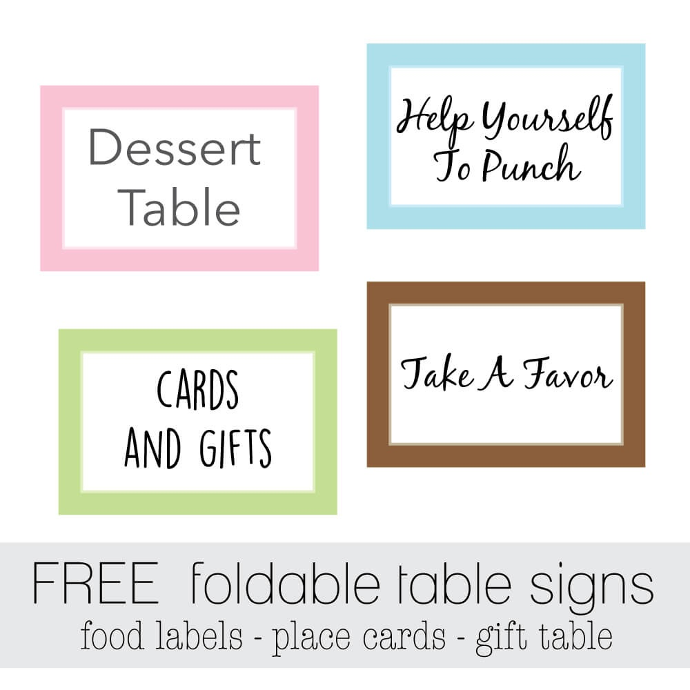 Free Favor Tags For Parties   Cutestbabyshowers - Free Printable Baby Shower Table Signs
