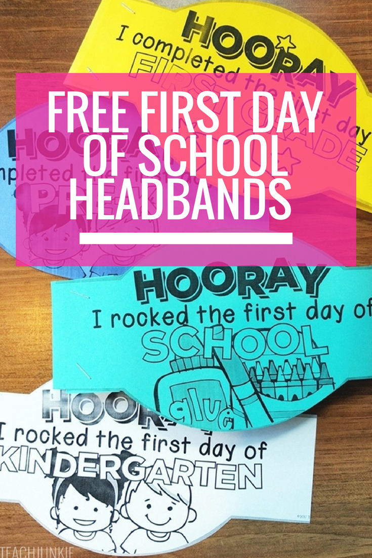 Free First Day Of School Headband Crowns   Kindergarten   First Day - Free Printable First Day Of School Certificate
