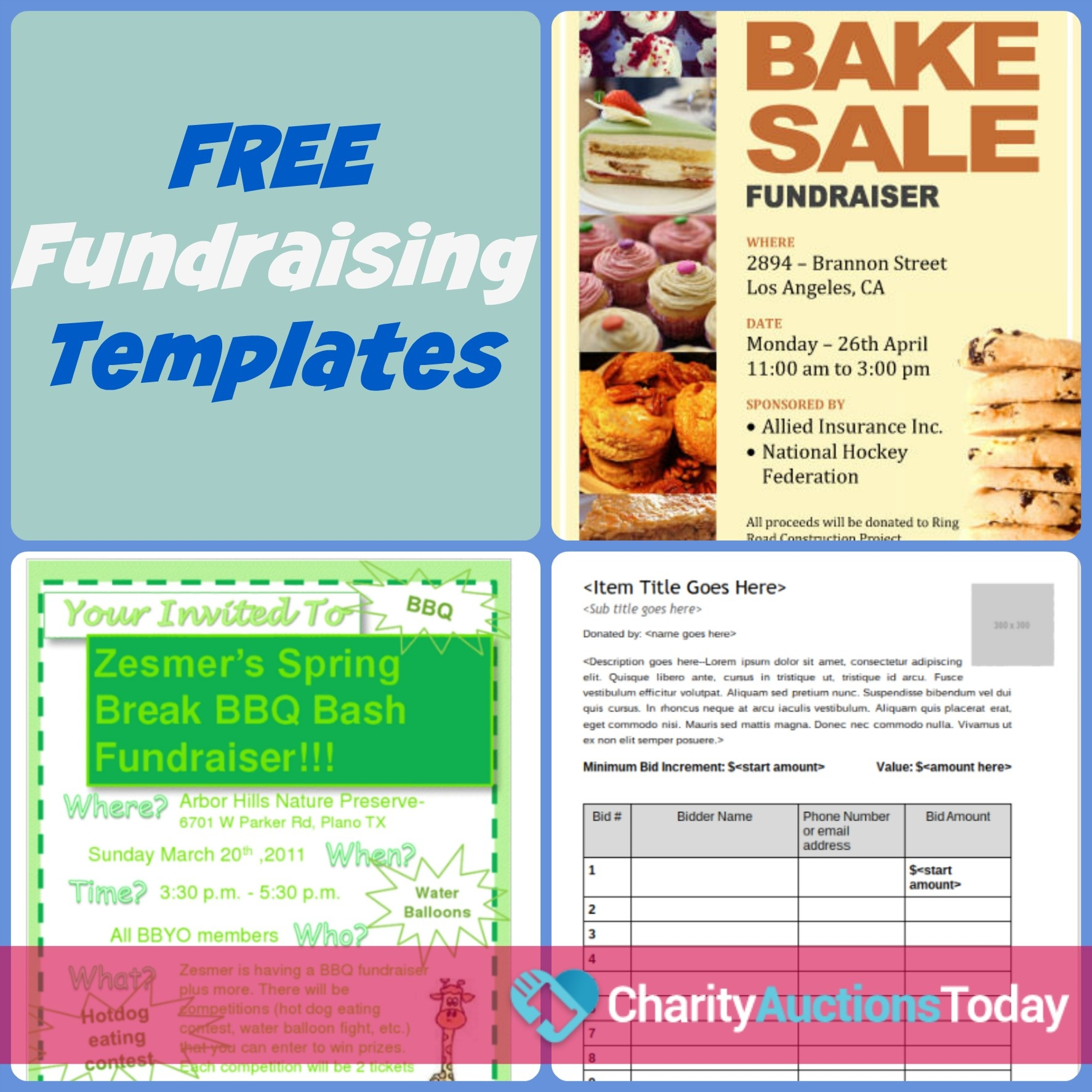Free Fundraiser Flyer   Charity Auctions Today - Free Printable Flyers