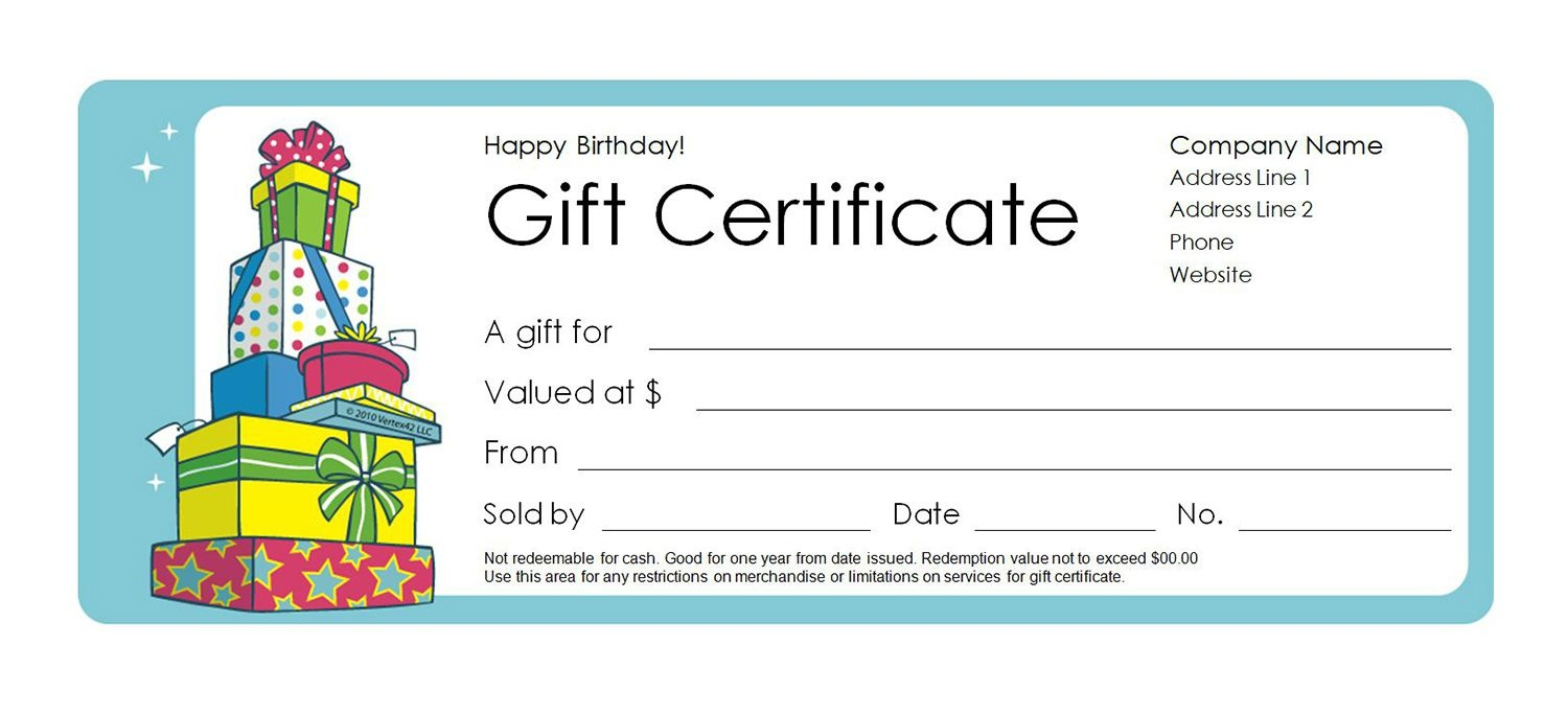 Free Gift Certificate Templates You Can Customize - Free Printable Gift Certificates