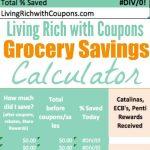 Free Grocery Savings Calculator From Lrwc | Tips | Saving Money - Free Printable Coupon Spreadsheet