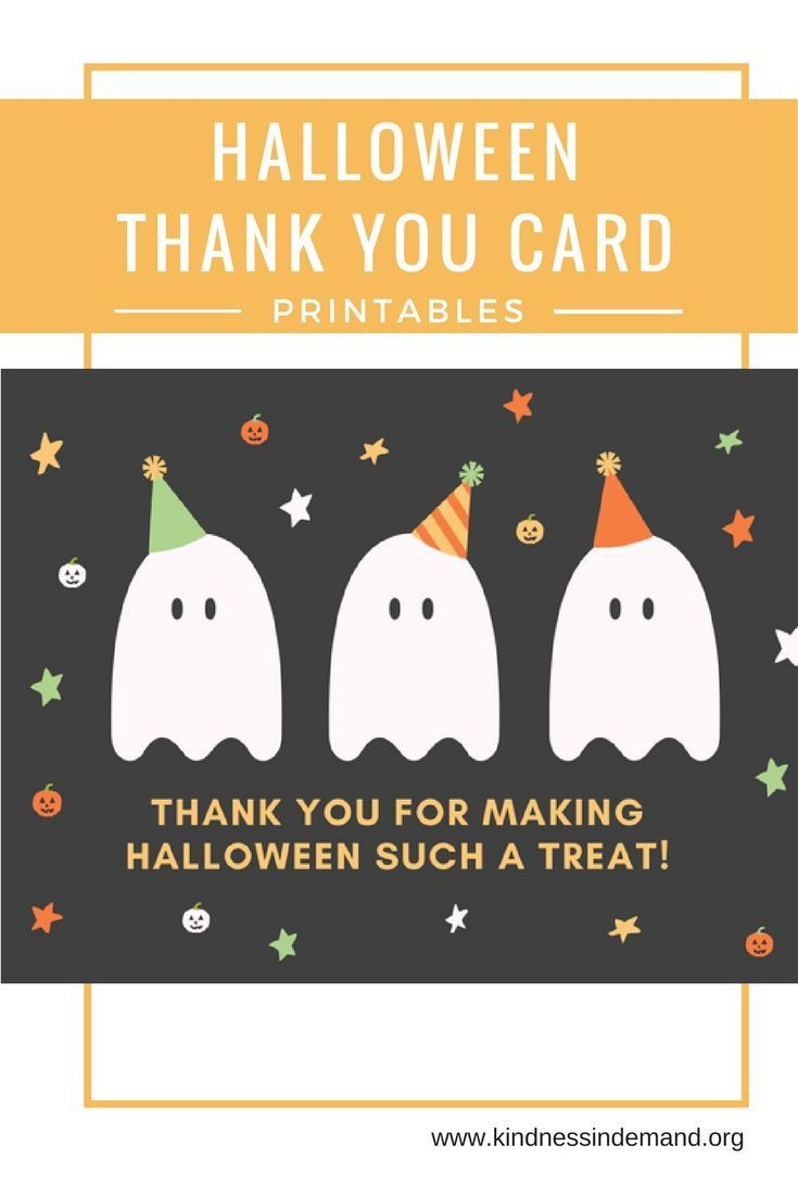 Free Halloween Thank You Card Printables   Halloween   Halloween - Printable Halloween Cards To Color For Free