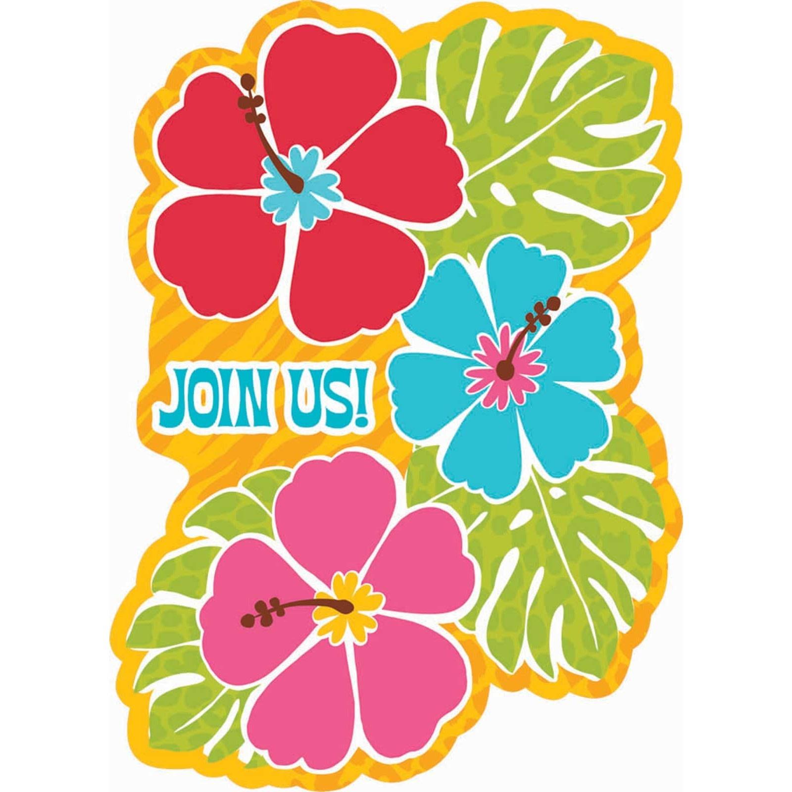 Free Hawaiian Invitations Cliparts, Download Free Clip Art, Free - Free Printable Luau Clipart