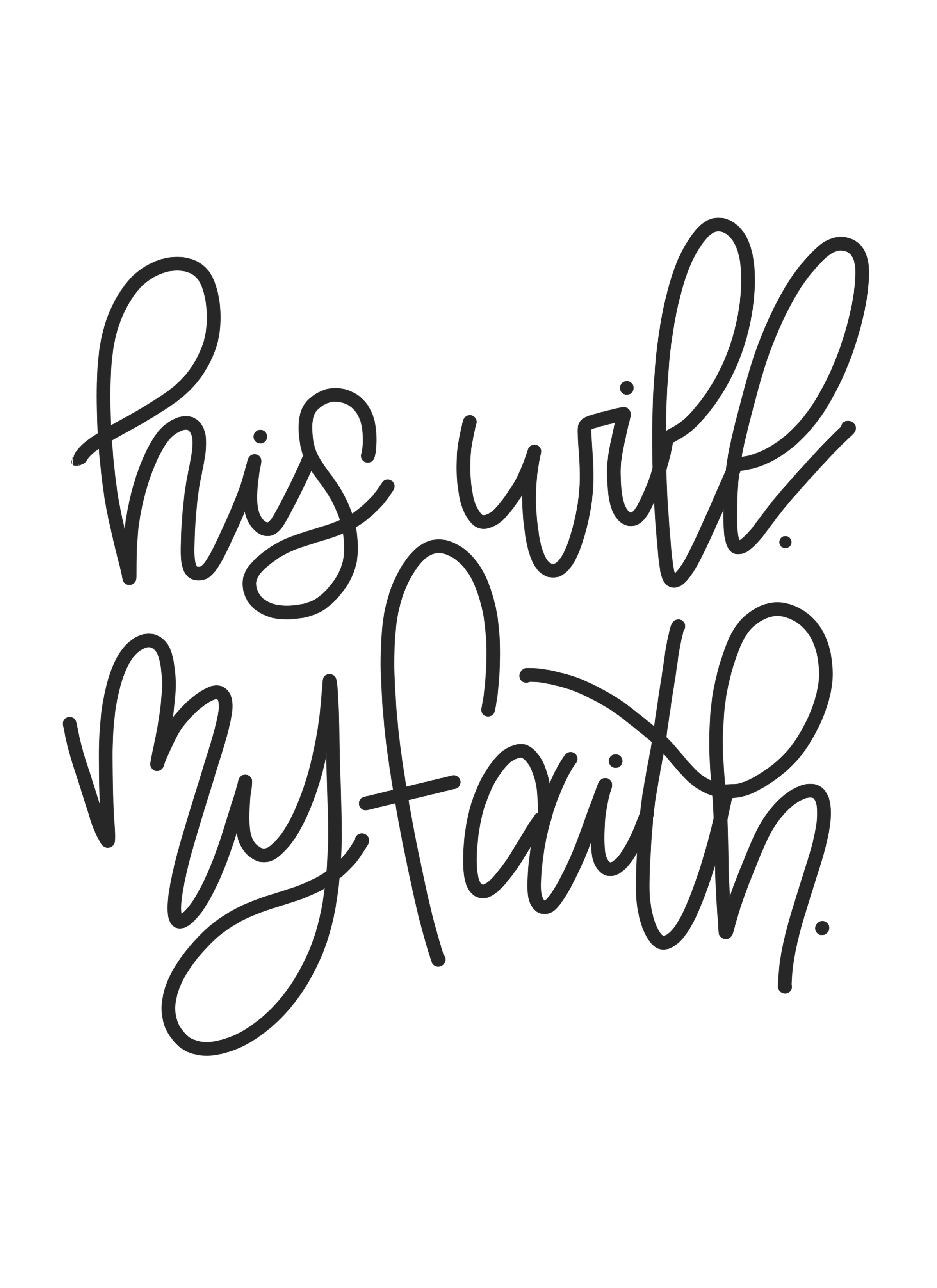 """Free """"his Will My Faith"""" Jeremiah 29:11 Hand Lettered Printable - Jeremiah 29 11 Free Printable"""