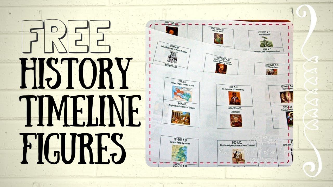 Free History Timeline Figures For Kids Homeschooling - Youtube - Free Printable Timeline Figures