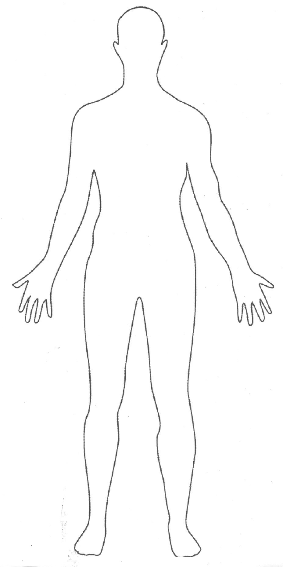 Free Human Outline Template, Download Free Clip Art, Free Clip Art - Free Printable Human Body Template