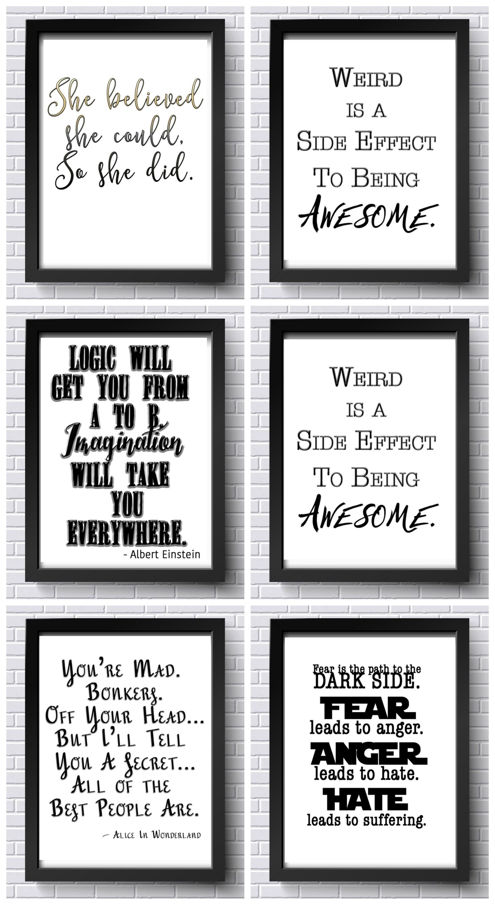 Free Inspirational Printables! Free Office Printables! | Diy - Free Printable Quotes For Office