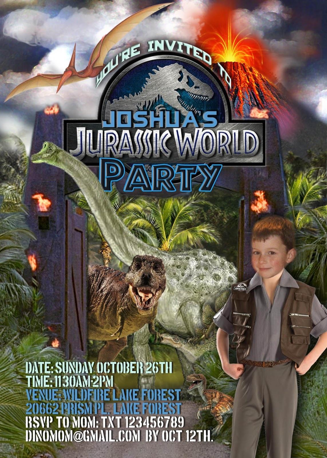 Free Kids Party Invitations - Free Printable Jurassic Park Invitations