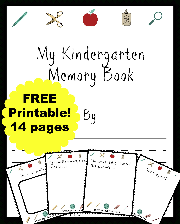 Free Kindergarten Memory Book (Homeschool Edition | Best Of Mrs - Free Printable Leveled Readers For Kindergarten