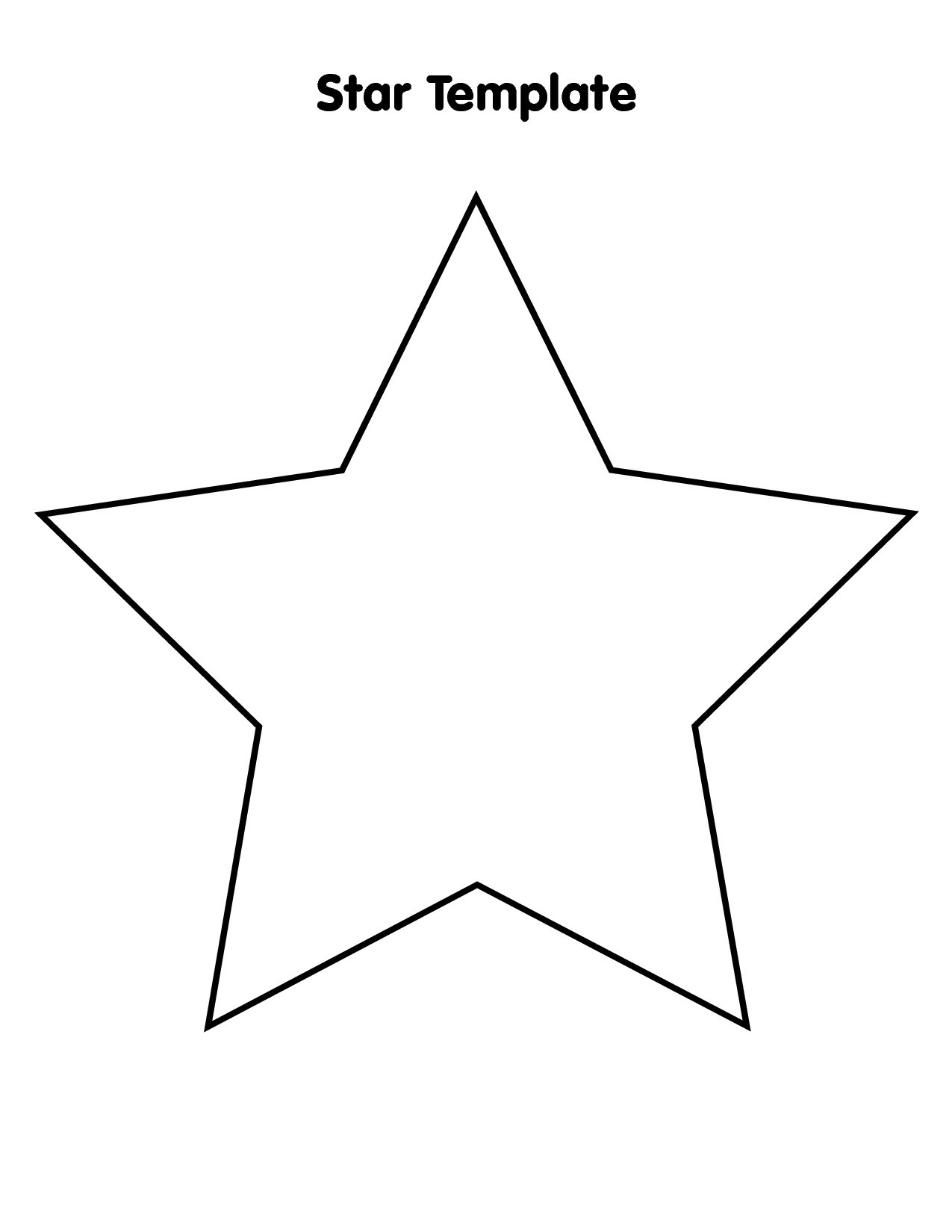 Free Large Star Template To Print, Download Free Clip Art, Free Clip - Large Printable Shapes Free