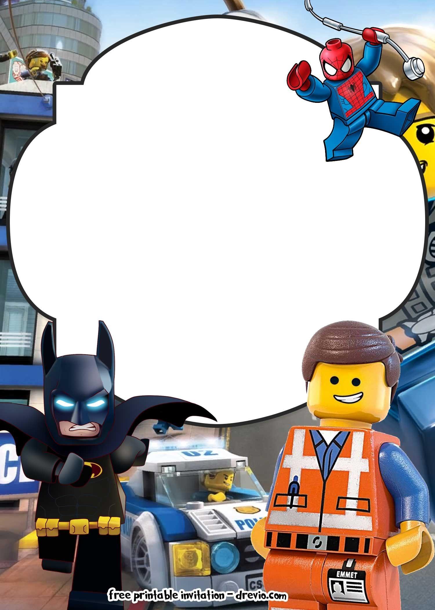 Free Lego Movie Invitations For   Free Printable Birthday - Lego Batman Party Invitations Free Printable