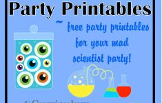 Free Mad Scientist Party Printables From Www – Scan To Enter Sign Printable Free
