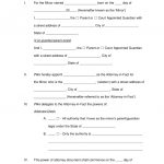 Free Minor (Child) Power Of Attorney Forms - Pdf | Word | Eforms - Free Printable Legal Forms California