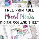 Free Mixed Media Digital Collage Sheet   Fox + Hazel   Free Printable Digital Collage Sheets