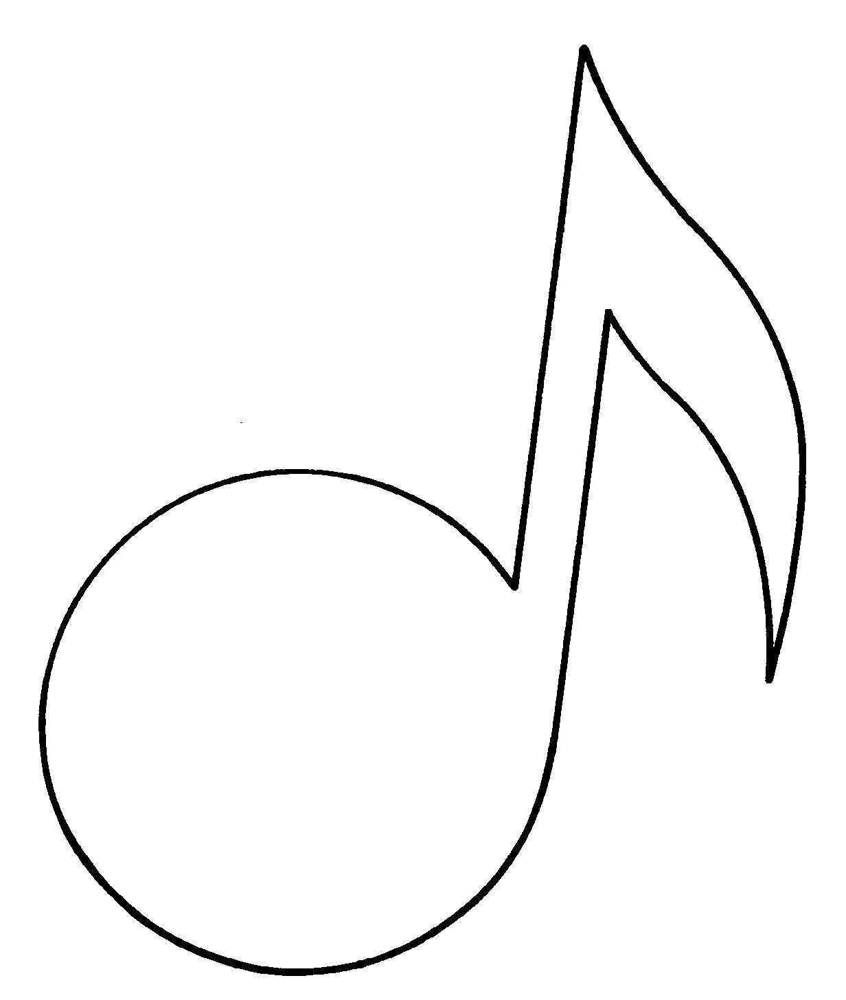 Free Music Note Outline, Download Free Clip Art, Free Clip Art On - Free Printable Music Notes Templates
