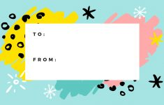Free Online Gift Tags Maker: Design A Custom Gift Tag – Canva – Free Customized Name Tags Printable