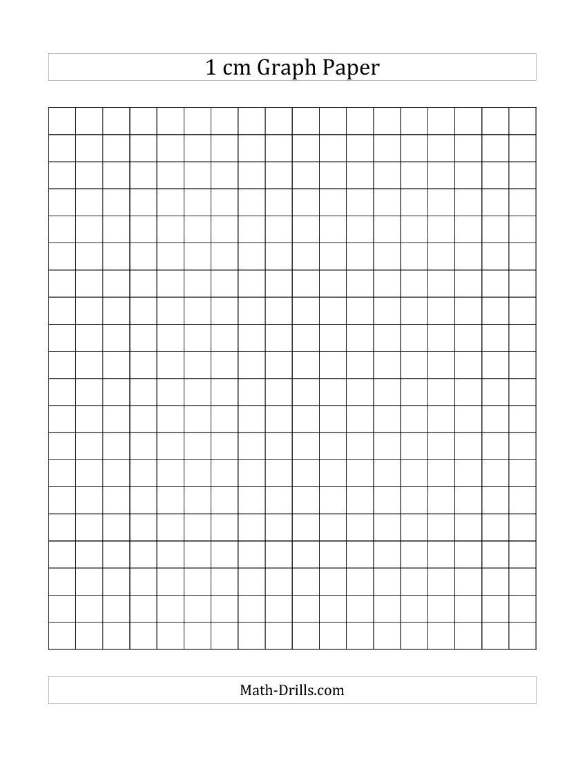 Free Printable 1 Cm Graph Paper (A)   Back To School   Printable - Free Printable Squared Paper