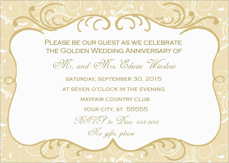 Free Printable 50Th Wedding Anniversary Invitation Templates Cute - Free Printable 60Th Wedding Anniversary Invitations