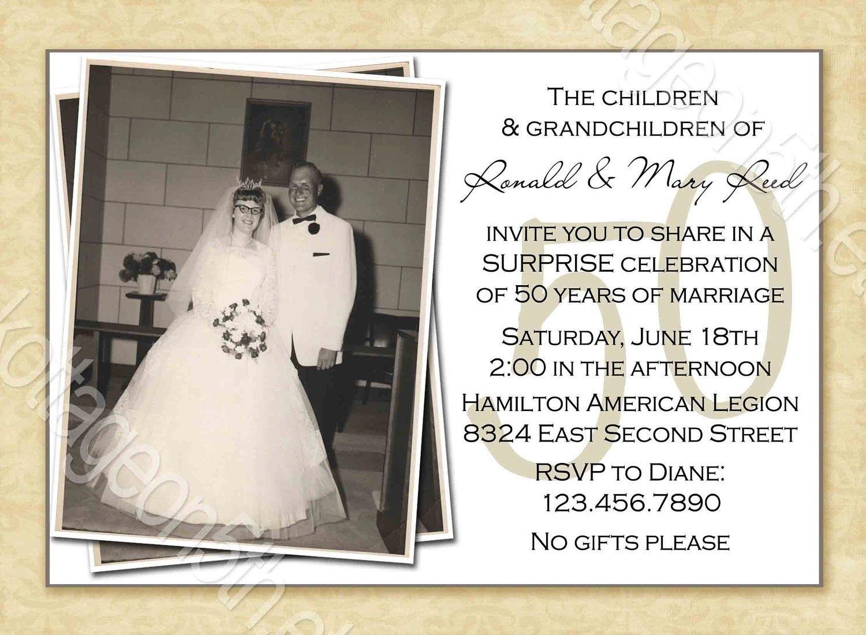 Free Printable 50Th Wedding Anniversary Invitation Templates - Free Printable 60Th Wedding Anniversary Invitations
