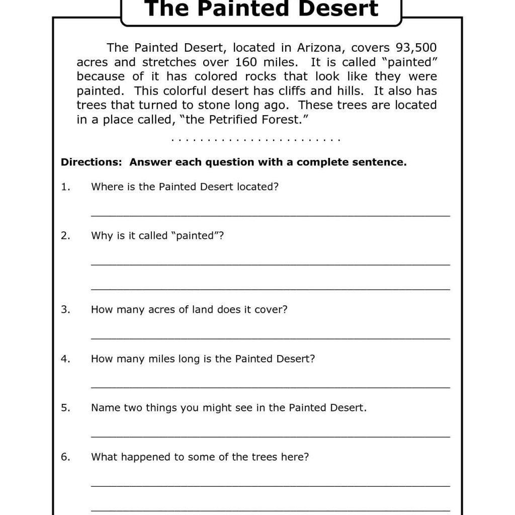 Free Printable 8Th Grade Reading Comprehension Worksheets 17 - Free Printable Worksheets Reading Comprehension 5Th Grade