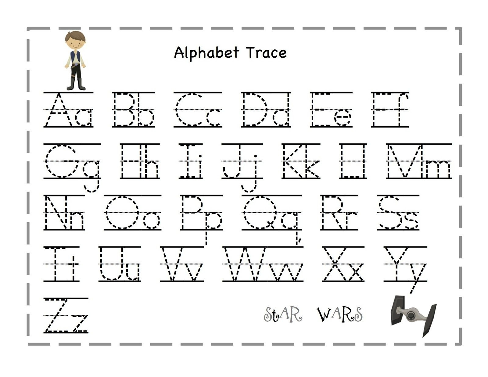 Free Printable Alphabet Letter Tracing Worksheets | Angeline - Free Printable Traceable Letters