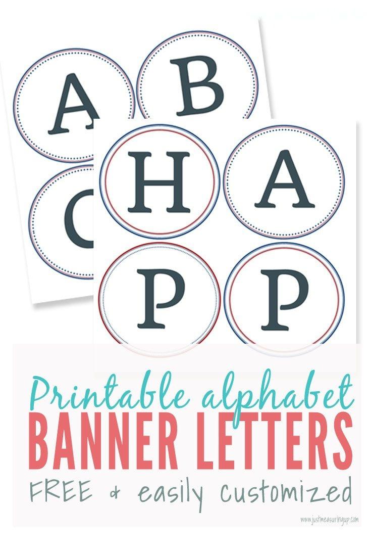 Free Printable Alphabet Letters Banner | Theveliger - Free Printable Alphabet Letters For Banners