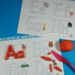 Free Printable Alphabet Playdough Mats   Kidz Activities   Speech   Alphabet Playdough Mats Free Printable