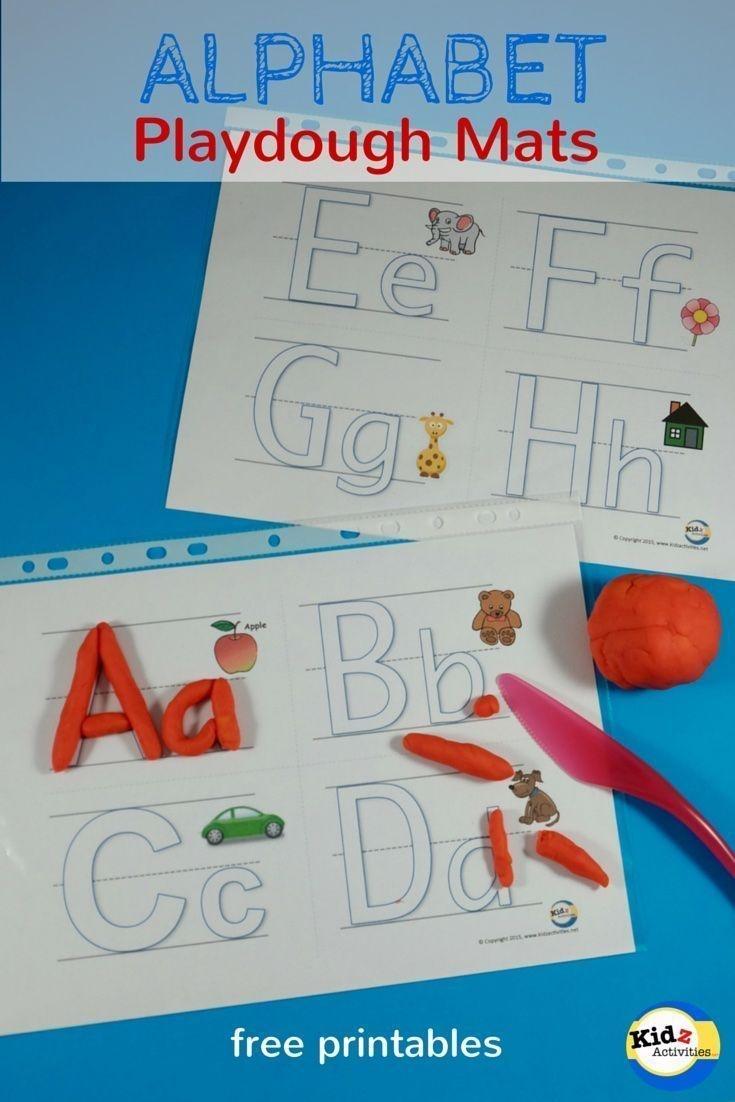 Free Printable Alphabet Playdough Mats - Kidz Activities | Speech - Alphabet Playdough Mats Free Printable