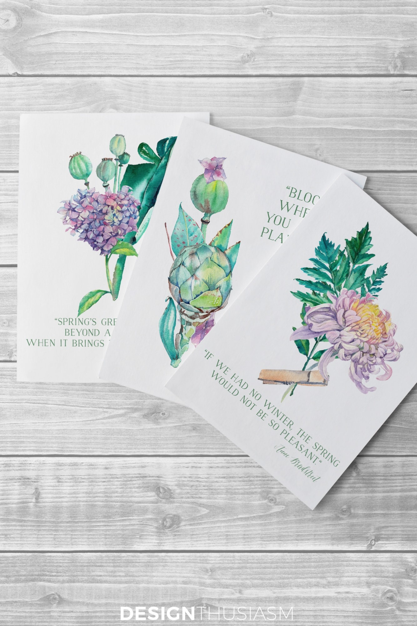 Free Printable Art For Spring: Watercolor Flowers For Diy Wall Decor - Free Printable Wall Art Decor