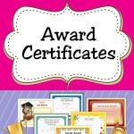 Free Printable Award Certificates For Kids | Homeschool | Award   Free Printable Honor Roll Certificates Kids