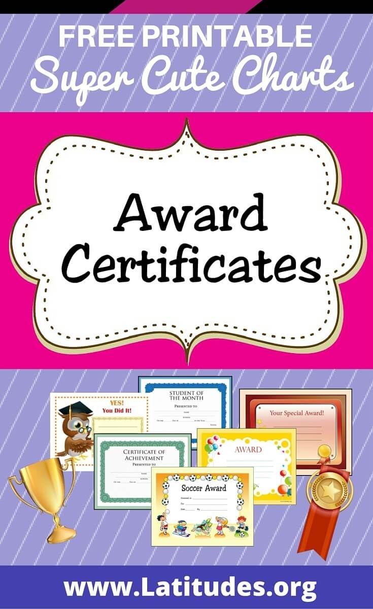 Free Printable Award Certificates For Kids | Homeschool | Award - Free Printable Honor Roll Certificates Kids