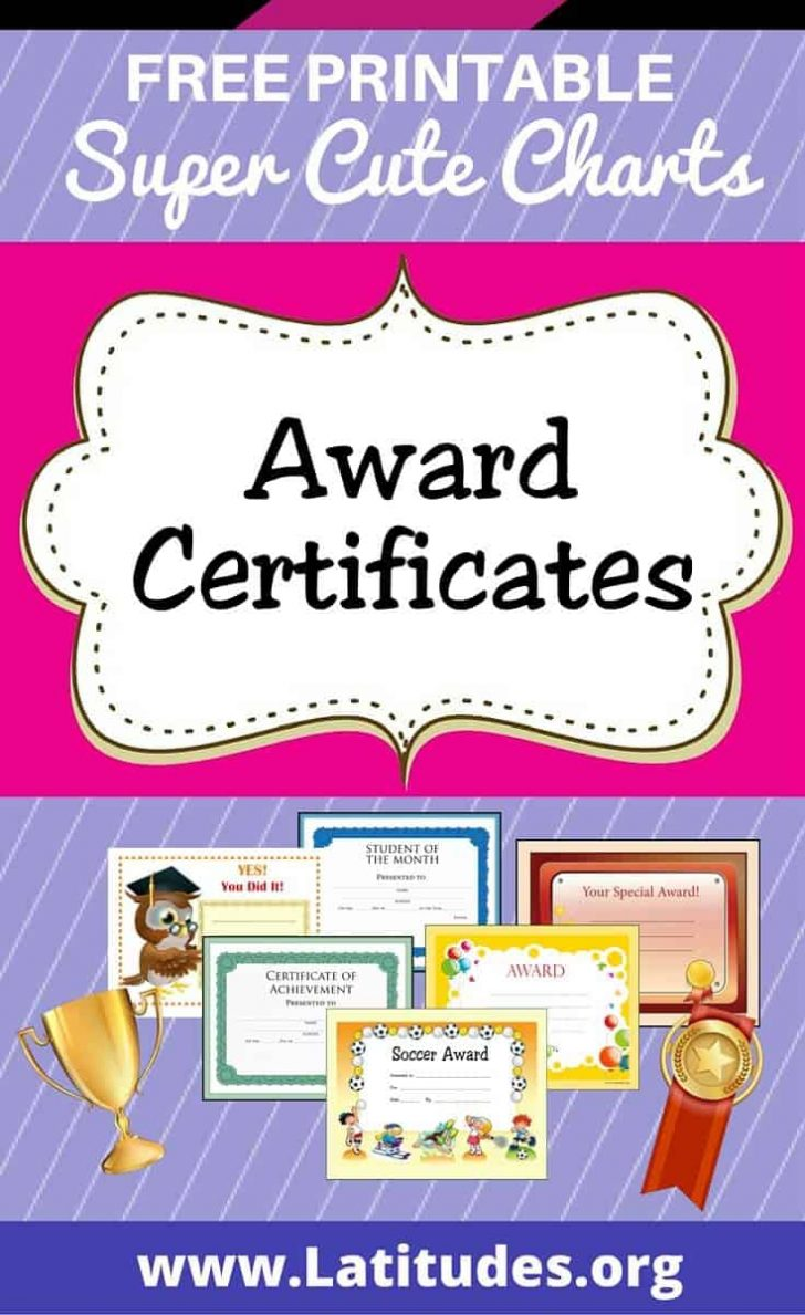 Free Printable Certificates For Teachers