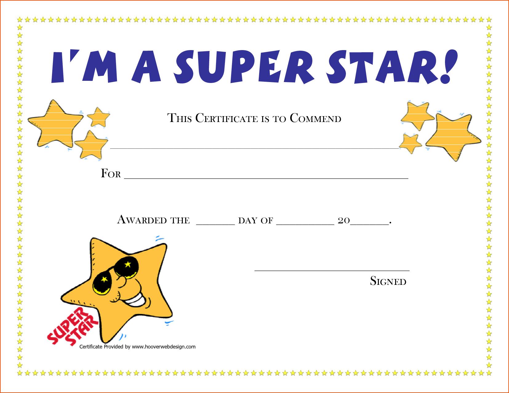 Free Printable Award Certificates | New Calendar Template Site | G - Free Printable Superhero Certificates
