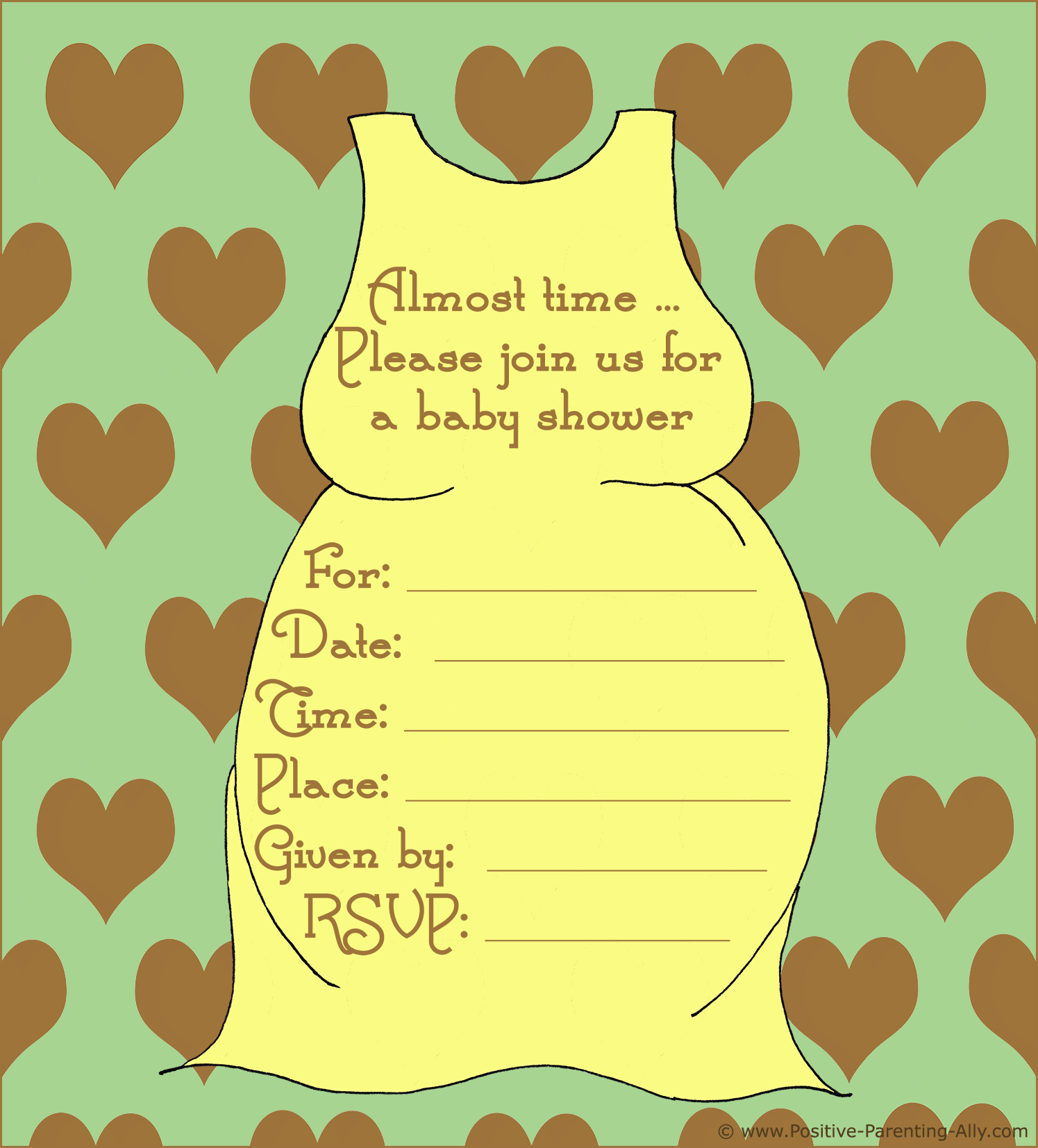 Free Printable Baby Shower Invitations In High Quality Resolution - Free Printable Blank Baby Shower Invitations