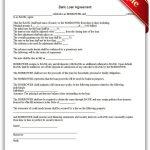 Free Printable Bank Loan Agreement   Sample Printable Legal Forms   Free Printable Legal Documents