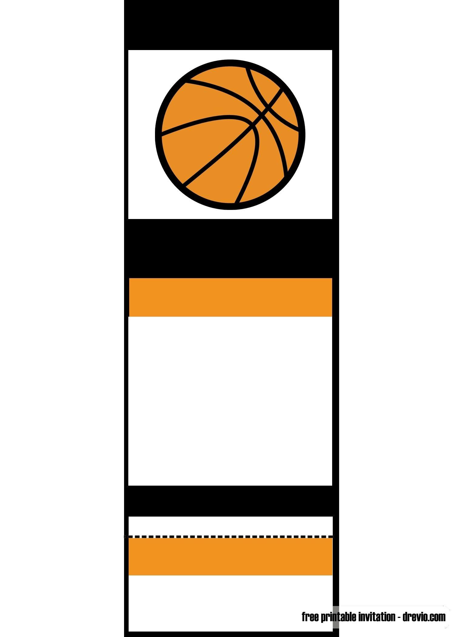 Free Printable Basketball Ticket Invitation   Unc Vs Gonzaga - Free Printable Ticket Invitation Templates