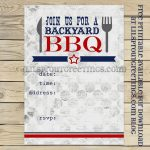 Free Printable Bbq-Cookout Invitation | Free Printables | Bbq Party - Free Printable Cookout Invitations