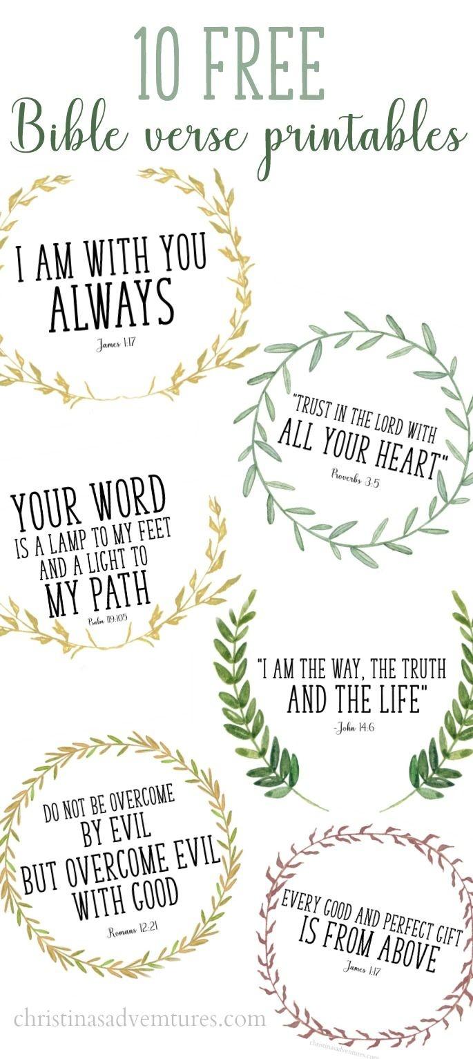 Free Printable Bible Verses | Printables | Printable Bible Verses - Free Printable Scripture Verses