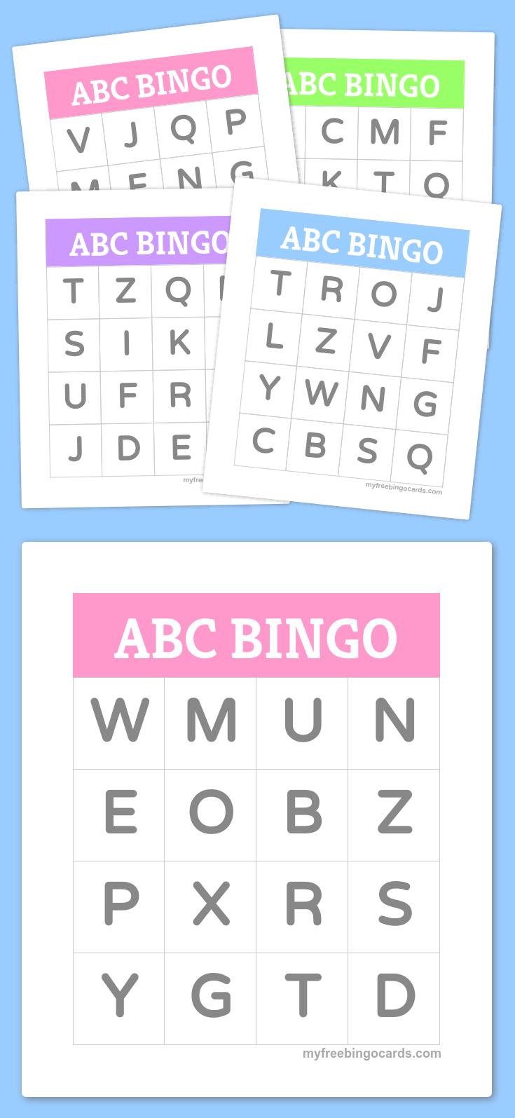 Free Printable Bingo Cards   Kindergarten   Alphabet Bingo, Abc - Free Printable Spanish Bingo Cards