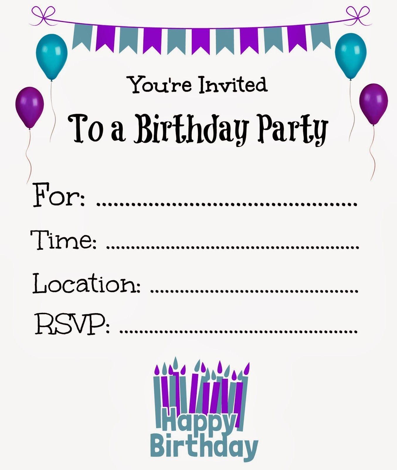 Free Printable Birthday Invitations For Kids #freeprintables - Birthday Party Invitations Online Free Printable