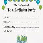 Free Printable Birthday Invitations For Kids #freeprintables   Free Printable Boy Birthday Invitations