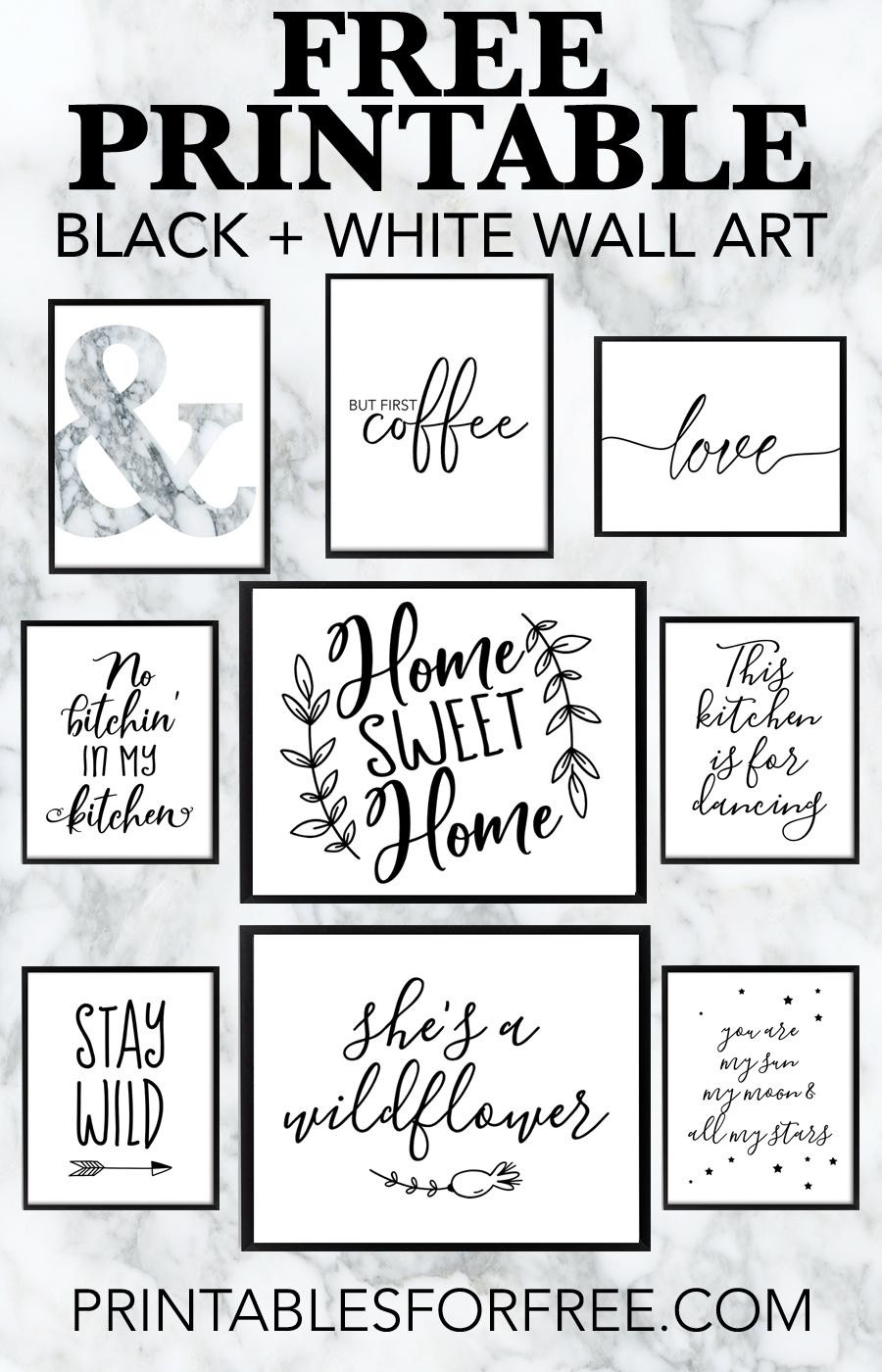 Free Printable Black And White Wall Art - Download And Print Your Ow - Free Printable Wall Art Black And White