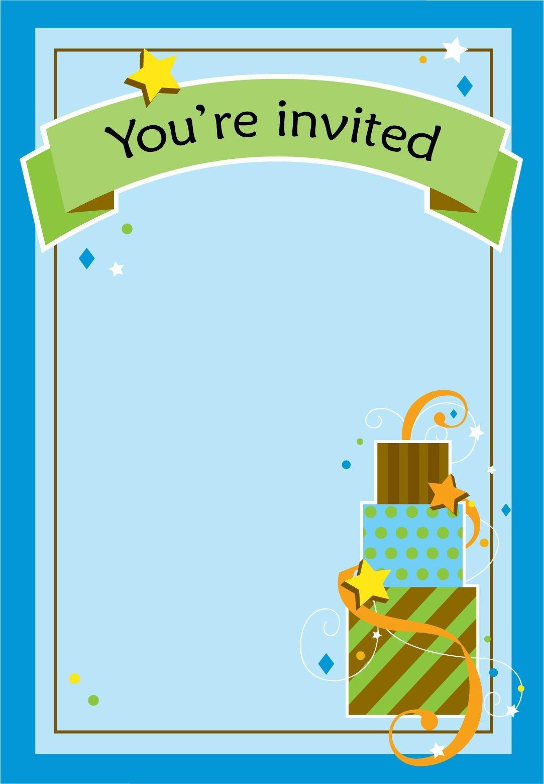 Free Printable Boy Fun Birthday Invitation | New Styles | Printable - Free Printable Boy Birthday Invitations