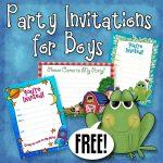 Free Printable Boys Birthday Party Invitations   Party Printables   Free Printable Boy Birthday Invitations