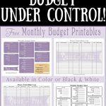 Free Printable Budget Worksheet - Queen Of Free - Free Printable Budget Forms