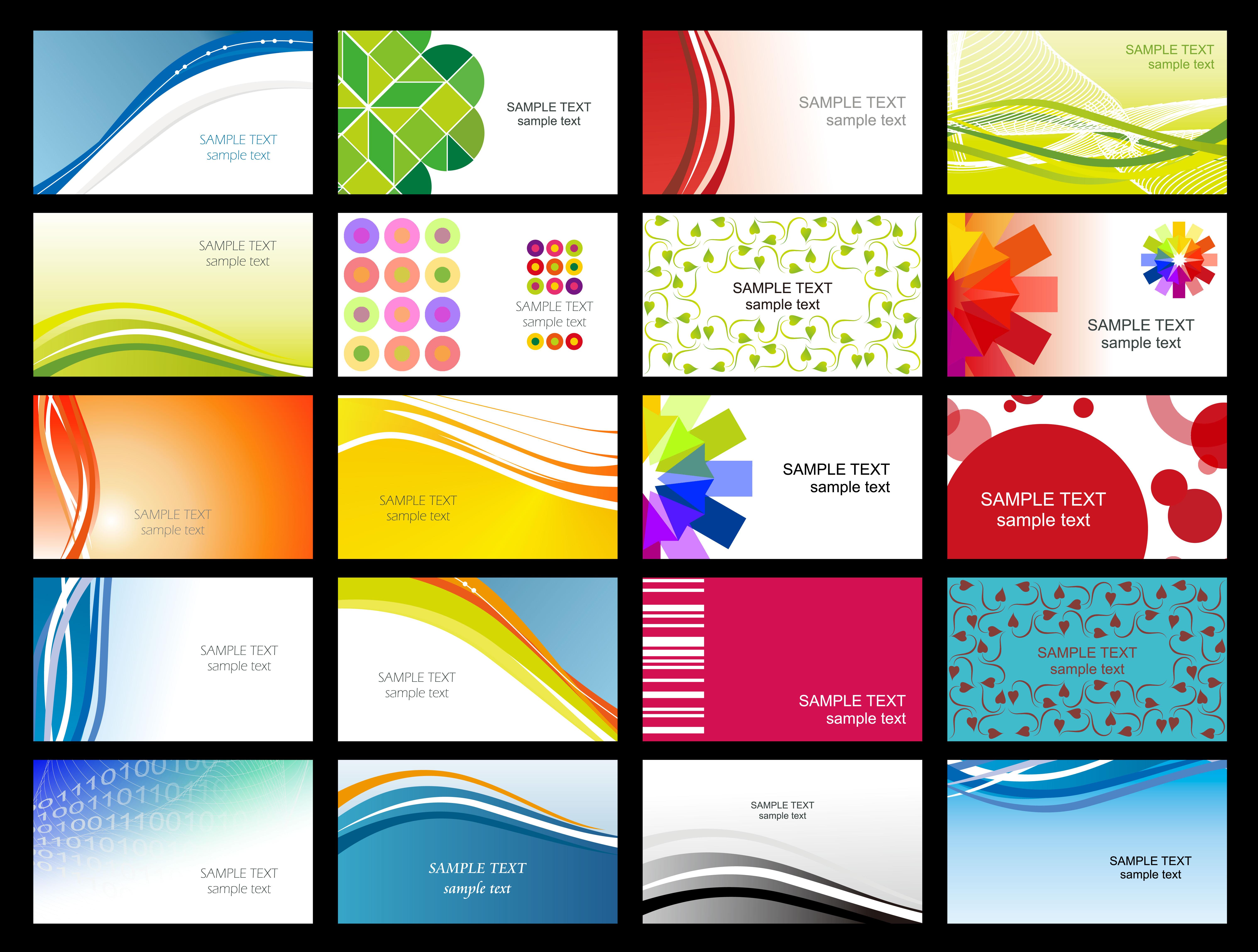 Free Printable Business Card Templates Sample | Get Sniffer - Free Printable Business Templates