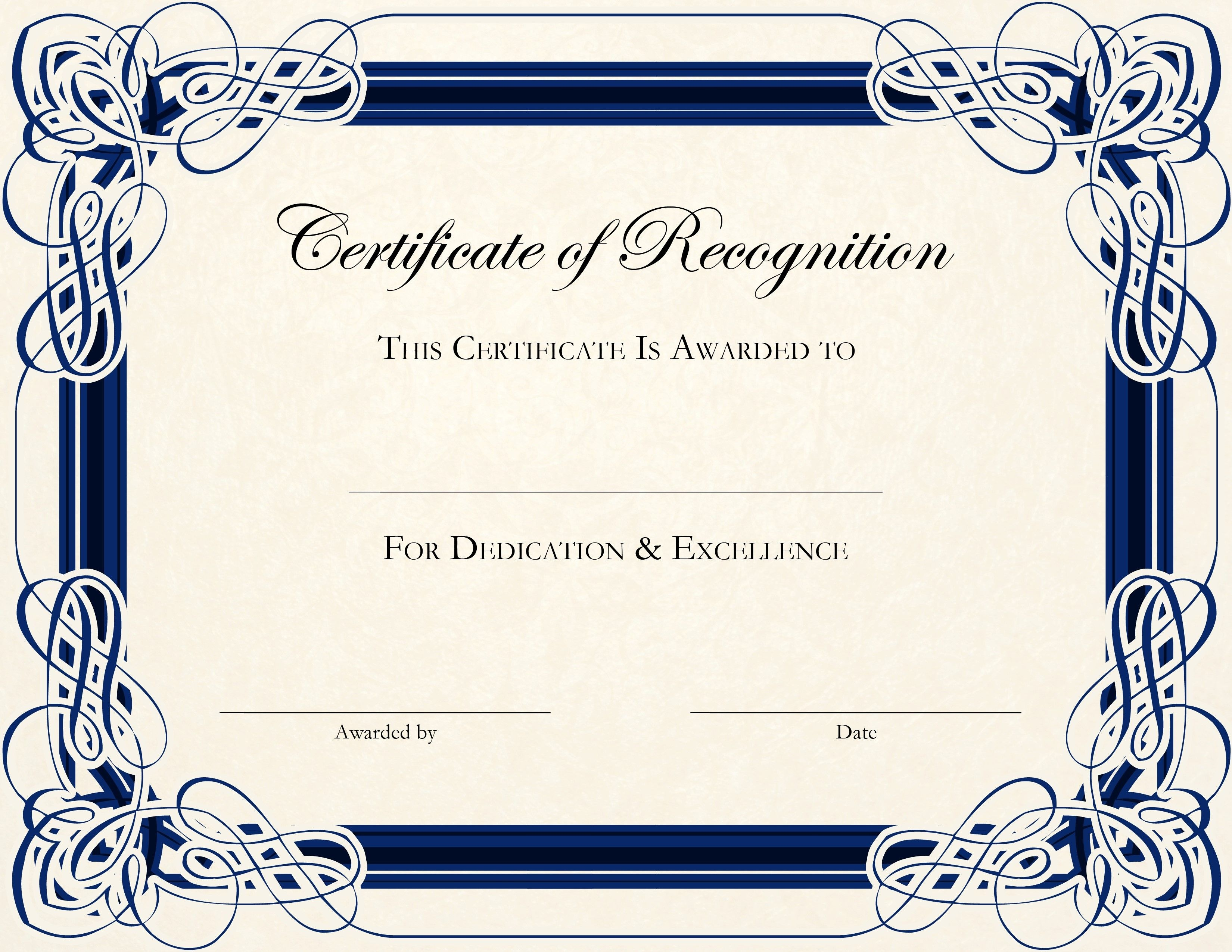 Free Printable Certificate Templates For Teachers | Besttemplate123 - Free Customizable Printable Certificates Of Achievement