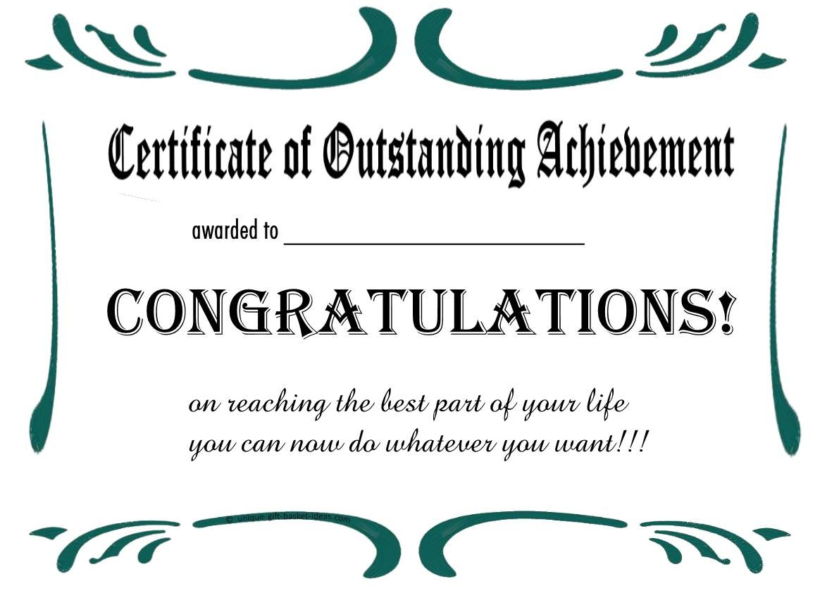 Free Printable Certificates And Awards To Include In Your Gift Basket - Free Printable Certificates Of Achievement