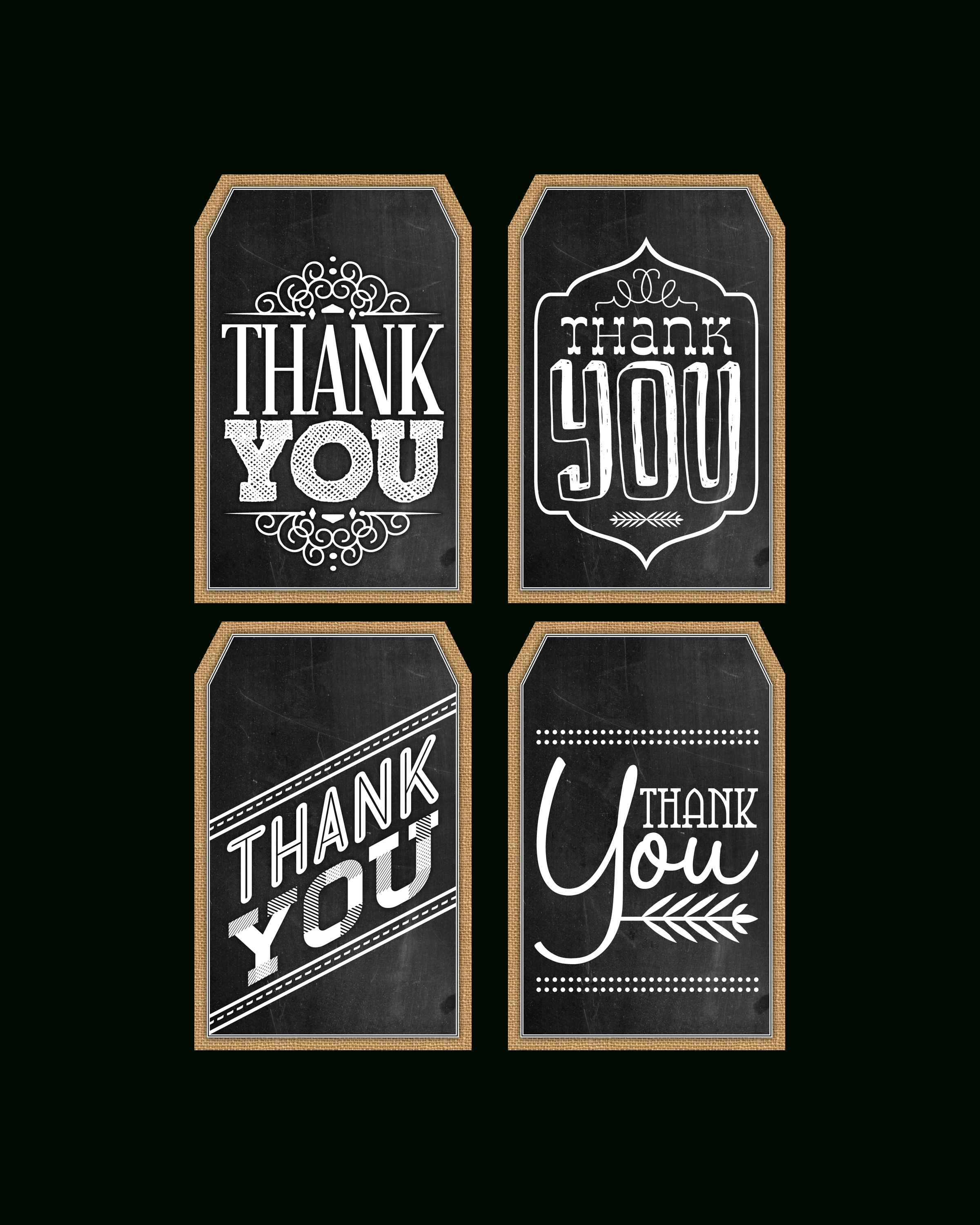 Free Printable Chalkboard Thank You Tags   The Cottage Market - Thank You For Coming Free Printable Tags